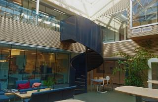 A photo of a spiral staircase at SDU